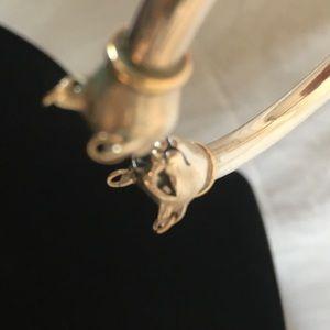 Vintage Jewelry - Sterling Silver Egyptian Bastet Cat Bracelet Set